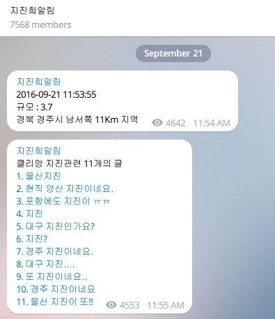 quake alert telegram