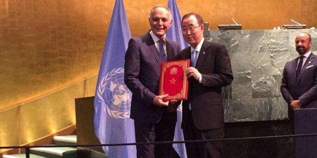 Salaheddine Mezouar et Ban Ki-moon, 21 septembre 2016, New York