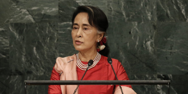 Myanmar's Minister of Foreign Affairs Aung San Suu Kyi addresses the 71st United Nations General Assembly in Manhattan, New York, U.S. September 21, 2016. REUTERS/Mike Segar