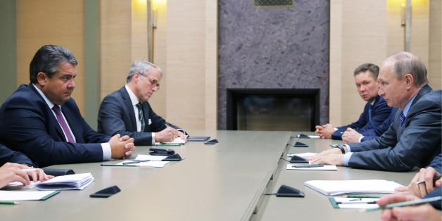 Wirtschaftsminister Sigmar Gabriel zu Besuch beim russischen Präsidenten Wladimir Putin