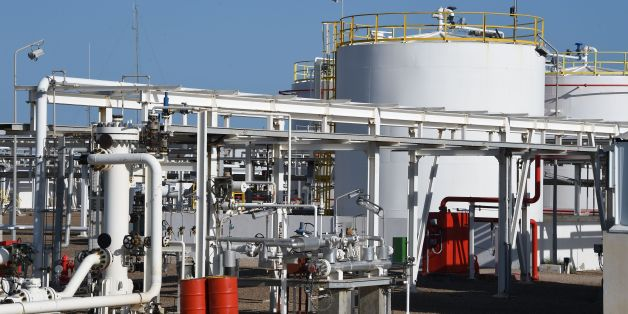 A picture taken on April 14, 2016 shows the facilities of the Chergui gas field concession of the UK based oil company Petrofac on the island of Kerkennah.  Petrofac facility on Kerkennah has halted production since social protests started in January 2016.  / AFP / FETHI BELAID        (Photo credit should read FETHI BELAID/AFP/Getty Images)