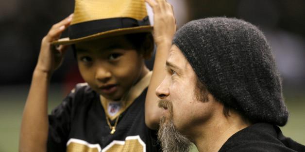 Brad Pitt mit seinem Sohn Maddox