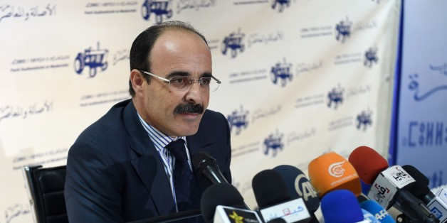 Ilyas el Omari, Vice Secretary General of the Party of Authenticity and Modernity (PAM) speaks during a press conference following the results from Moroccan municipal and regional elections on September 5, 2015 in Rabat. Morocco's Islamists came first in regional elections seen as a test of their popularity after nearly four years in power, but trailed the liberal opposition in municipal polls, results showed. The PAM, a liberal opposition party founded by a politician close to the king, came se