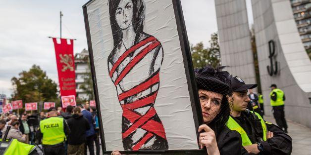 Die drohende Rechtsverschärfung führte in Polen zu Protesten.
