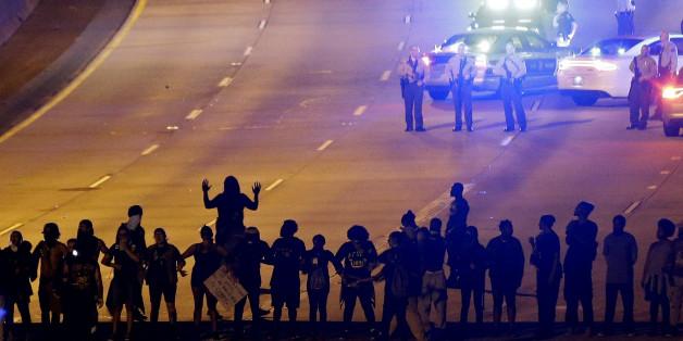 Demonstranten in Charlotte
