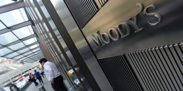 NEW YORK, UNITED STATES - MAY 21:  Moody's, leading international credit rating institution, is seen on the photo in New York, United States on 21 May, 2014. Leading financial institutions of country are present at Wall Street and they are regarded as not only USA's crucial economic points but also heart of the world economy. They dominate the economic situation of country with their decisions and statement of numbers. (Photo by Cem Ozdel/Anadolu Agency/Getty Images)