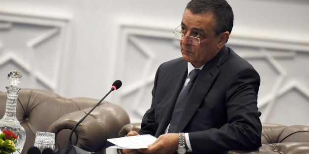 Algeria's Minister of Industry and Mining, Abdeslam Bouchouareb looks on during the opening of the 3rd forum on partnerships between France and Algeria on April 10, 2016 in the capital Algiers.  / AFP / Farouk Batiche        (Photo credit should read FAROUK BATICHE/AFP/Getty Images)