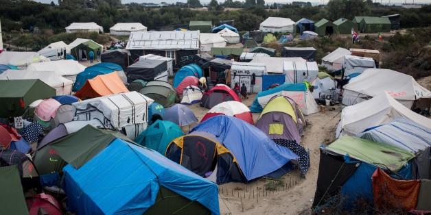 Ein Flüchtlingslager im französischen Calais
