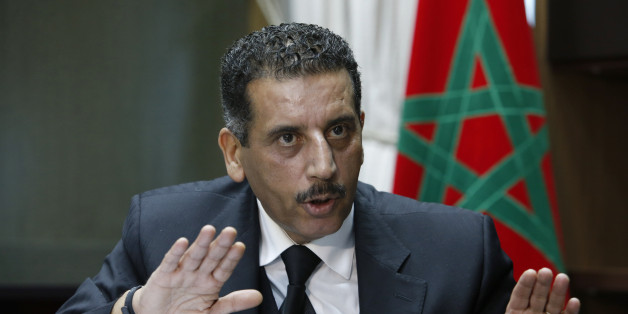The director of the Central Bureau of Judicial Investigations, Abdelhak Khiame, gestures during an interview with The Associated Press at his headquarters in Sale near Rabat, Morocco, Tuesday, Jan. 5, 2016. Khiame says it was his country that put French and Belgian police on the trail of the network behind the Paris attacks that killed 130, and likely spared more lives by pinpointing the location of the man considered the main organizer, holed up outside the French capital. (AP Photo/Abdeljalil