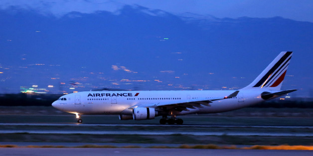 An Air France airliner arrives at the Imam Khomeini international airport in the Iranian capital Tehran on April 17, 2016.  The first Air France flight between Paris and Tehran for eight years landed in the Islamic republic's capital, bearing French Transport Minister Alain Vidalies and a business delegation. / AFP / ATTA KENARE        (Photo credit should read ATTA KENARE/AFP/Getty Images)