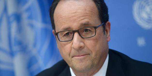 Photo by: Dennis Van Tine/STAR MAX/IPx 9/20/16 His Excellency Mr. Francois Hollande, President of the Republic of France and His Excellency PM  Justin Trudeau of Canada hold a press conference at UN Headquarters in New York City.