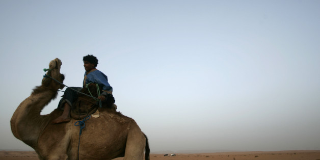 A nomad rides a camel during the IV Nomadic International Festival in M'hamid El Ghizlane, north Sahara, near Ouarzazate, March 24, 2007. The objective of the festival is to show a disappearing nomadic culture. REUTERS/Rafael Marchante  (MOROCCO)