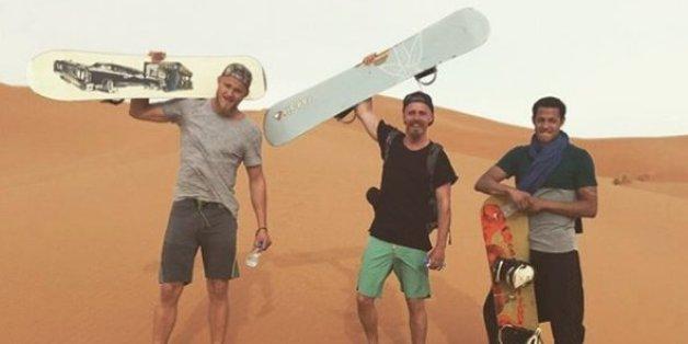Photo postée sur Instagram par l'acteur Alexander Ludwig (à gauche)