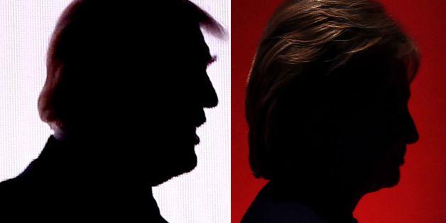 Trump und Clinton