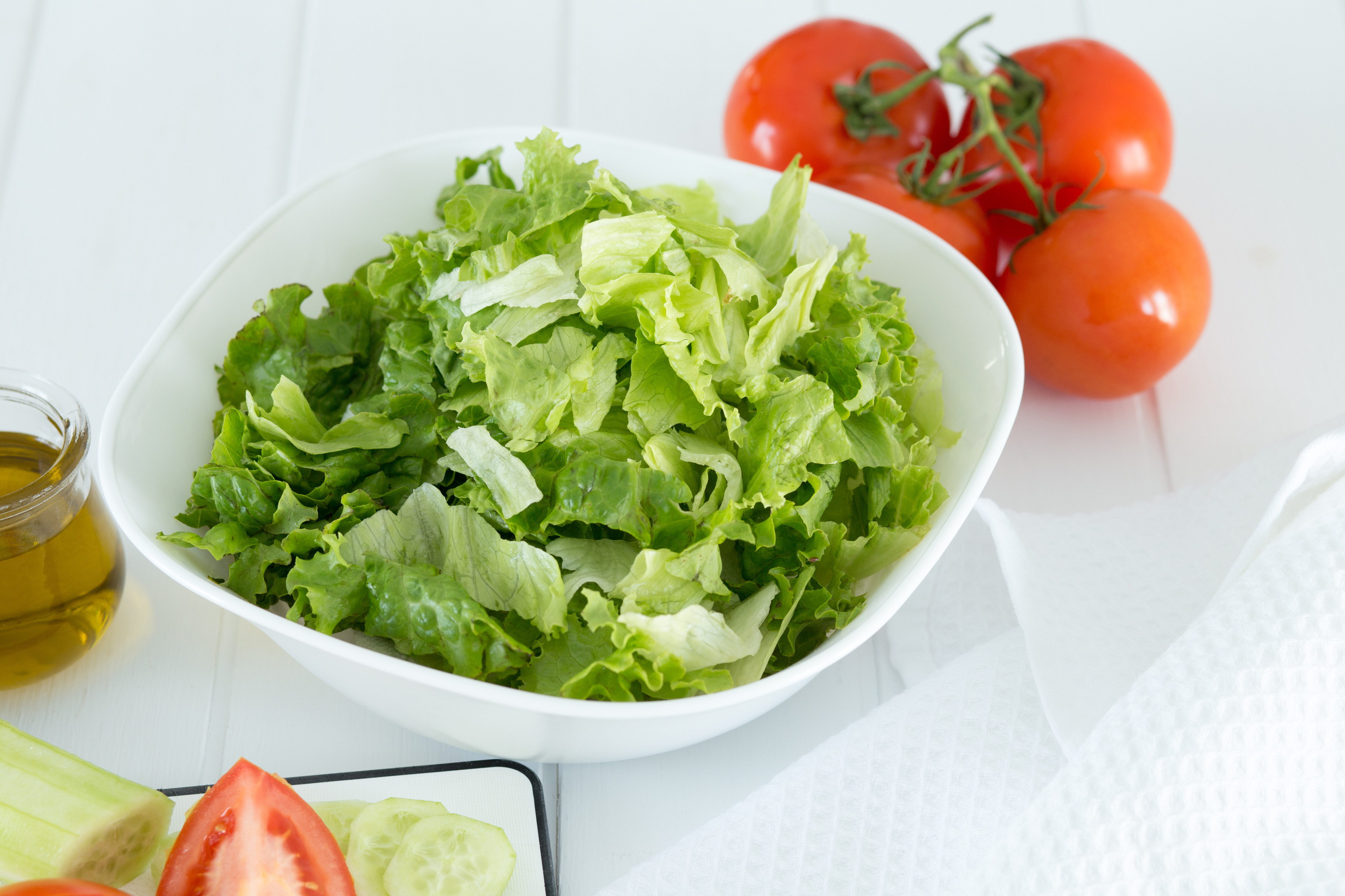 cut lettuce salad