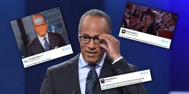 Les internautes n'ont pas raté le modérateur du débat Trump et Clinton