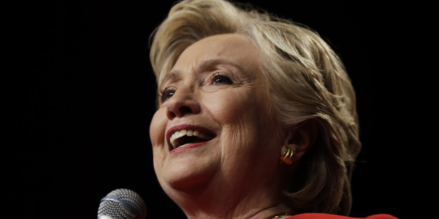 Democratic presidential candidate Hillary Clinton speaks to supporters after the first presidential debate with Republican presidential candidate Donald Trump, in Westbury, N.Y., Monday, Sept. 26, 2016. (AP Photo/Matt Rourke)