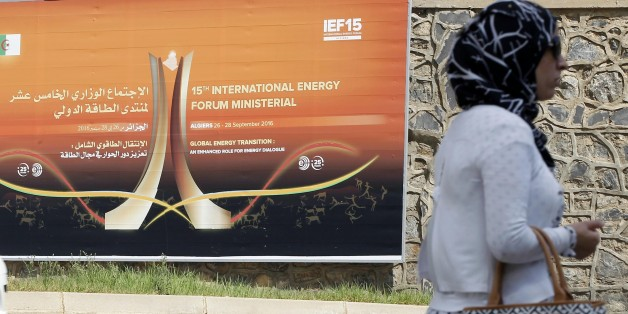 IF15 Promotion Banner in Algiers, Algeria, on 25 September 2016, where will be held from 26-28 September 2016 the 15th International Energy Forum (IEF 15). (Photo by Billal Bensalem/NurPhoto via Getty Images)