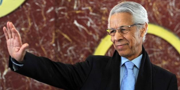 Mouloud Hamrouche, le 27 février 2014 à Alger
