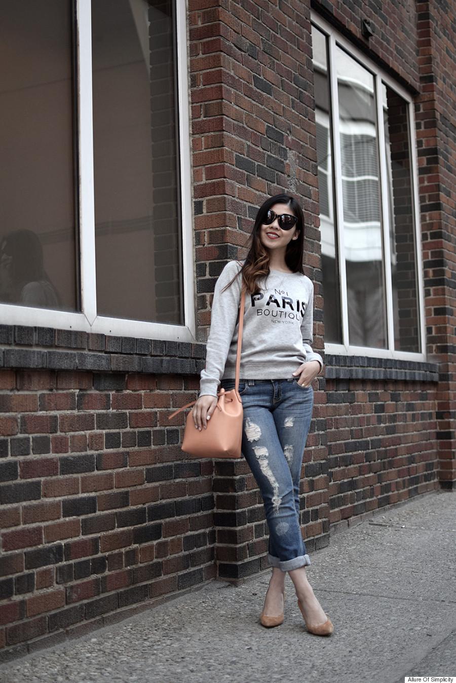 cuffed jeans
