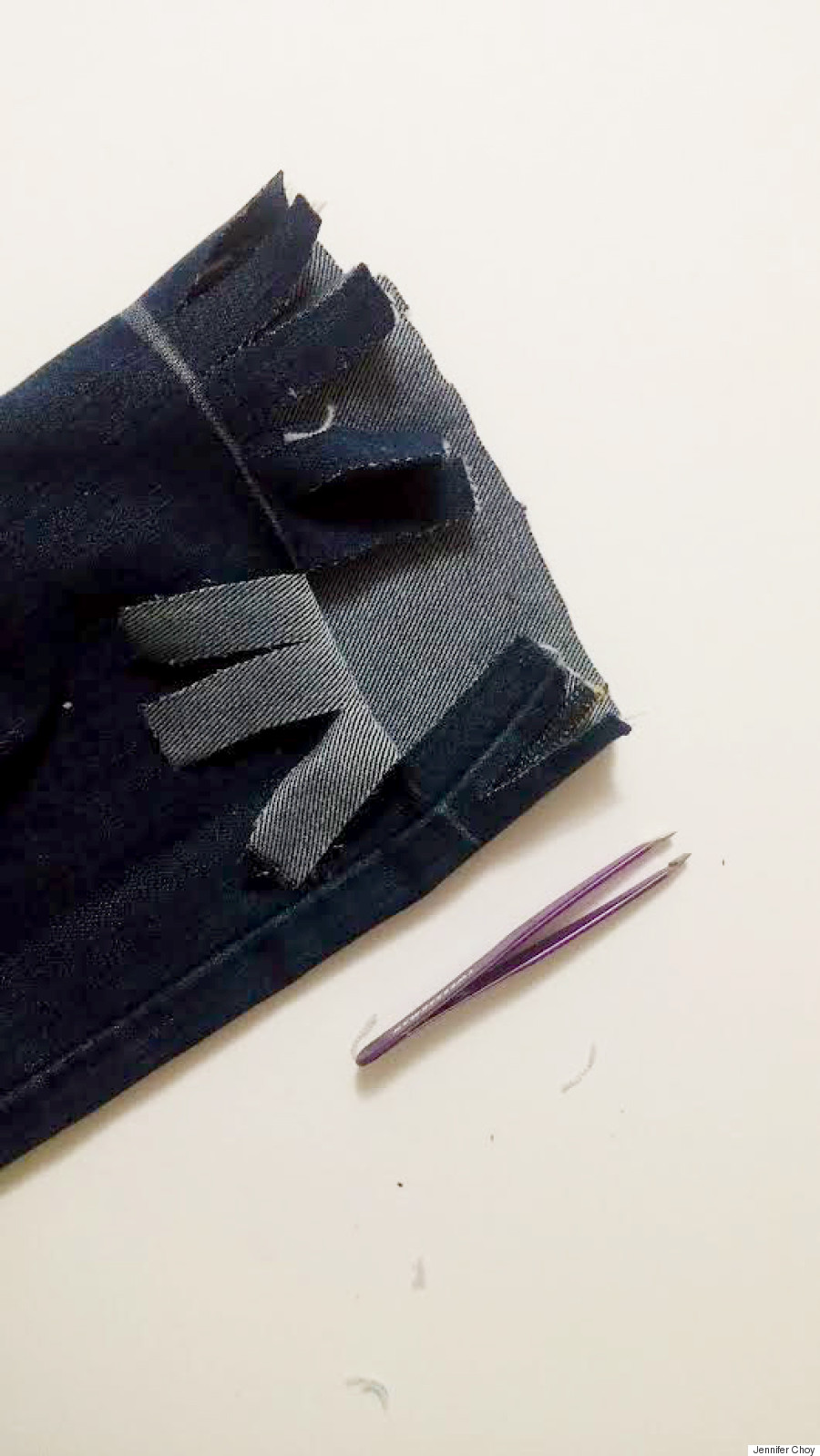 diy frayed fringe jeans