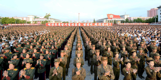 A rally celebrating the success of a recent nuclear test is held in Kim Il Sung square in this undated photo released by North Korea's Korean Central News Agency (KCNA) in Pyongyang September 13, 2016.   KCNA/via Reuters   ATTENTION EDITORS - THIS IMAGE WAS PROVIDED BY A THIRD PARTY. EDITORIAL USE ONLY. REUTERS IS UNABLE TO INDEPENDENTLY VERIFY THIS IMAGE. NO THIRD PARTY SALES. SOUTH KOREA OUT.