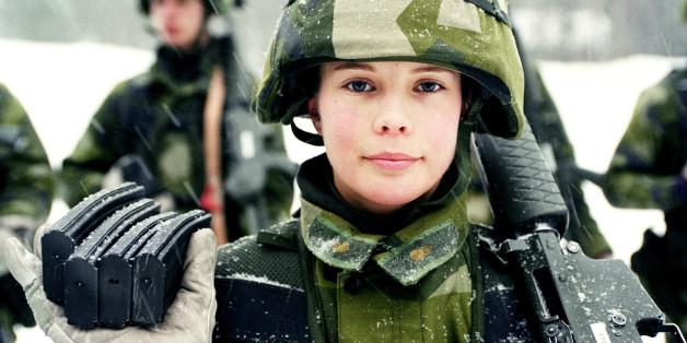 Eine schwedische Soldatin.