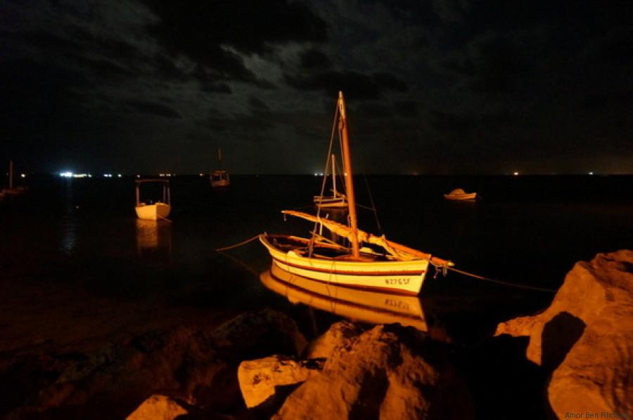 kerkennah nuit bateau mer