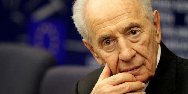 Israel's President Shimon Peres attends  a press conference at the European Parliament in Strasbourg, France March 12, 2013. REUTERS/Jean-Marc Loos/File Photo
