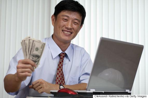 korea businessman money