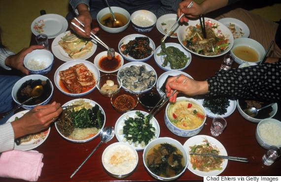 korea cuisine hand