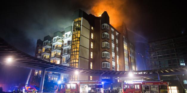 Das Universitätsklinikum Bergmannsheil in Flammen