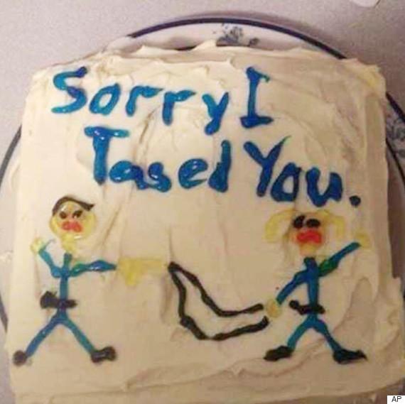 sorry i tased you cake
