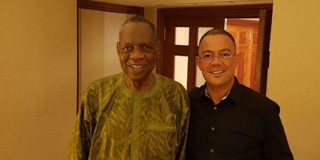 Le président de la CAF Issa Hayatou au Maroc en octobre