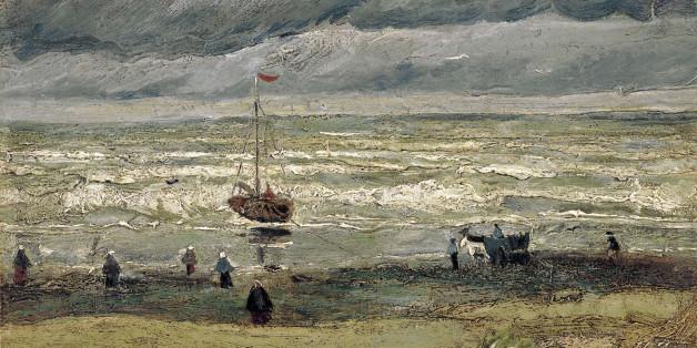 Άποψη της παραλίας του Σεβενίνγκεν (1882). Ο ένας από τους δύο πίνακες που βρέθηκαν μετά από 14 χρόνια
