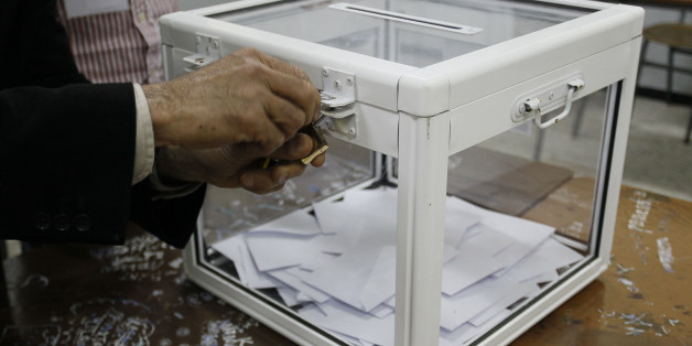 ALGIERS, ALGERIA - APRIL 17:  Counting starts after the voting for presidential elections in Algiers, Algeria on April 17, 2014. (Photo by Bechir Ramzy/Anadolu Agency/Getty Images)