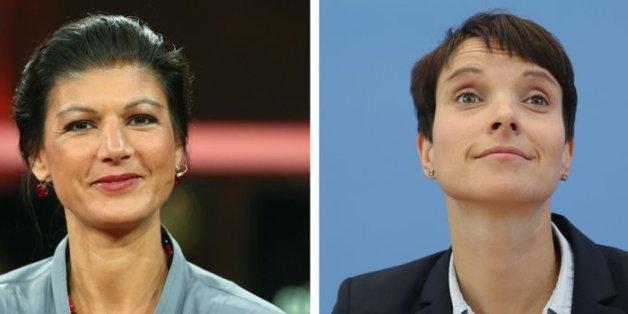 Erstmals trafen die Linke Sahra Wagenknecht und AfD-Chefin Frauke Petry in einem Interview aufeinander.