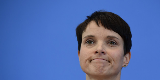 Co-leader of the 'Alternative fuer Deutschland' (AfD) Frauke Petry reacts during a press conference one day after regional election polls in Berlin on September 19, 2016. The Alternative for Germany (AfD) harnessed a wave of anger over the refugee influx to claim around 14 percent of the vote in a city that has long prided itself on its diversity and international appeal. / AFP / TOBIAS SCHWARZ        (Photo credit should read TOBIAS SCHWARZ/AFP/Getty Images)
