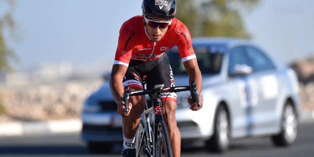 Cycling: 15th Tour of Qatar 2016 / Stage 3 Soufiane HADDI (Mar)/ Lusail Circuit - Lusail Circuit (11,4Km)/ Time Trial Contre la Montre Tijdrit TT / Etape Rit Ronde/(c) Tim De Waele (Photo by Tim de Waele/Corbis via Getty Images)