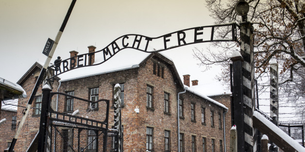 Arbeit macht frei sign at Auschwitz Concentration Camp, a UNESCO World Heritage Site, Oswiecim near Krakow, Poland, Europe.