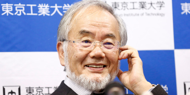 Yoshinori Ohsumi, a professor of Tokyo Institute of Technology, smiles during a news conference after he won the Nobel medicine prize at Tokyo Institute of Technology in Tokyo, Japan, October 3, 2016. REUTERS/Kim Kyung-Hoon