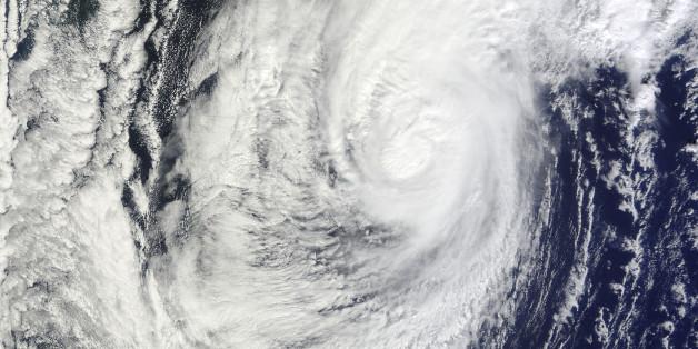 2010년 당시 일본 류쿠섬에 다다른 태풍 차바의 위성 사진