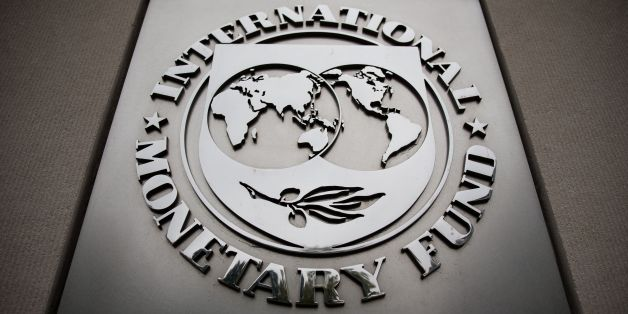 The International Monetary Fund logo is pictured at IMF Headquarters September 30, 2016 in Washington, D.C.  The IMF will host the 2016 Annual Meetings of the International Monetary Fund and the World Bank Group October 7-9. / AFP / ZACH GIBSON        (Photo credit should read ZACH GIBSON/AFP/Getty Images)