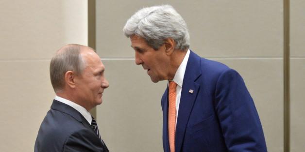 US-Außenminister Kerry und Russlands Präsident Putin beim G-20-Gipfel in China