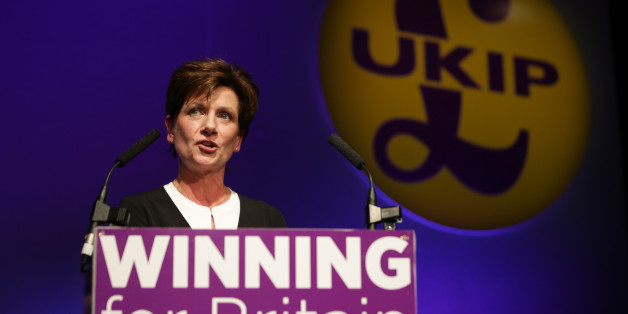 New leader of the anti-EU UK Independence Party (UKIP) Diane James gives an address at the UKIP Autumn Conference in Bournemouth, on the southern coast of England, on September 16, 2016. 