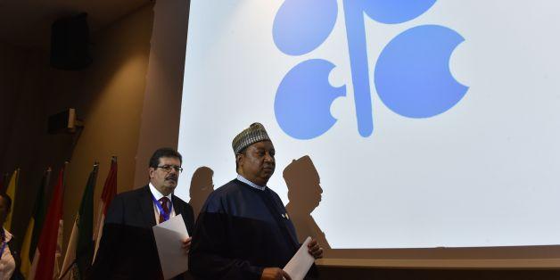 Le secrétaire général de l'OPEP, le Nigérian Mohammed Barkindo à Alger, le 28 septembre