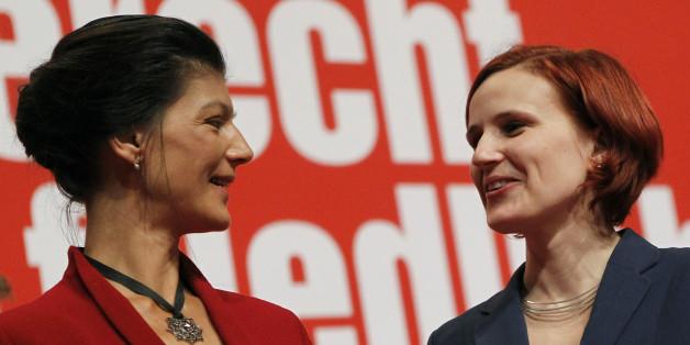 Im Mittelpunkt des erbitterten Hickhacks über die Spitzenkandidatur der Linken: Parteichefin Katja Kipping und Fraktionsvorsitzende Sahra Wagenknecht