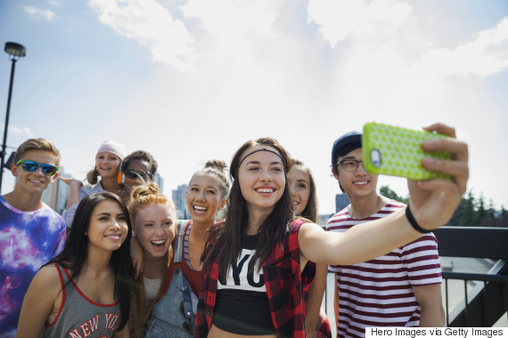 smiling teen selfie