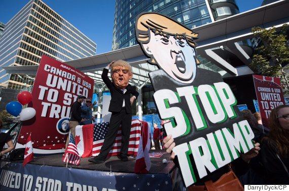trump rally vancouver