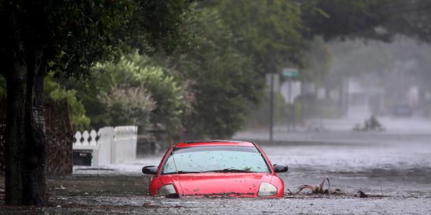 """Überschwemmungen in Florida durch Hurrikan """"Matthew""""."""